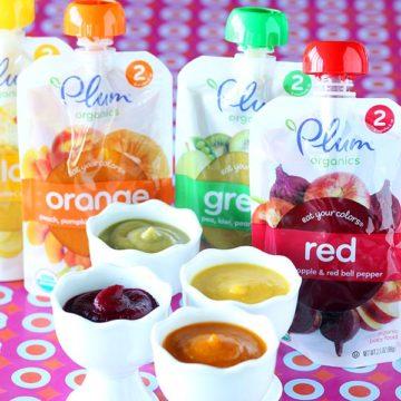 "Plum Organics ""Eat Your Colors"" purees"