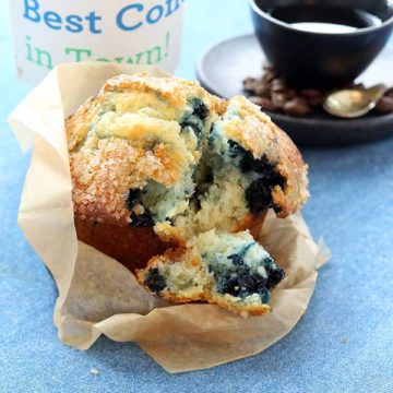 House-baked <br> Blueberry Muffins